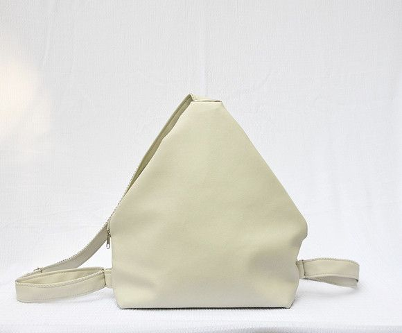 Shopping Bags – Backpack. Off White Eco Leather Rucksack. – a unique product by Loutik on DaWanda