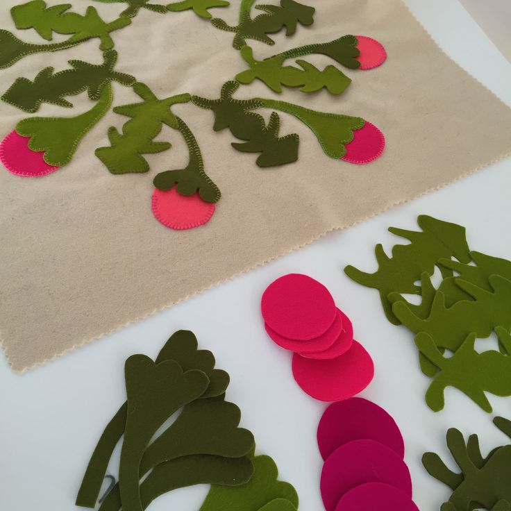 Tivaevae inspired diy pure wool applique and embroidery kit from birdiebrown.co.nz #embroidery #applique