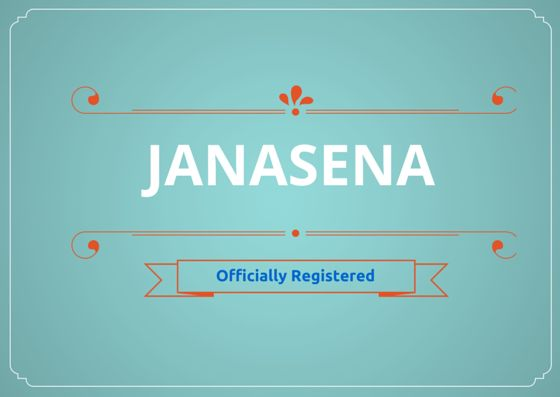 Janasena Officially registered by Election Commission of India.