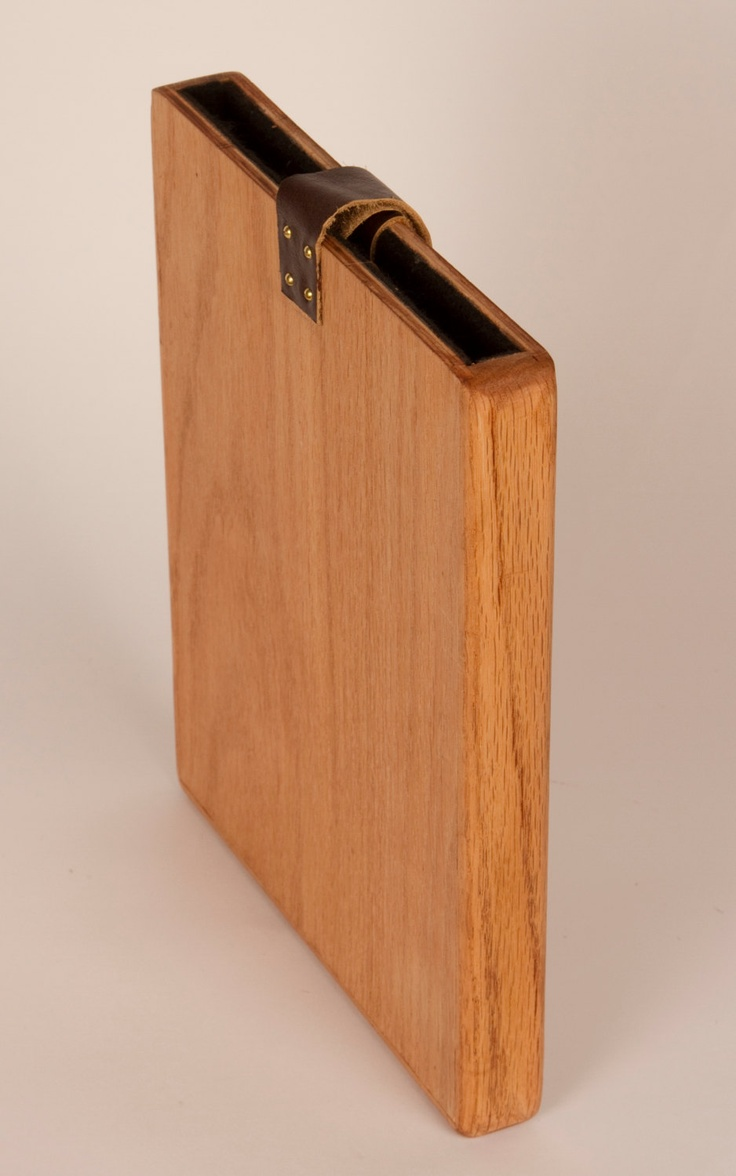 Ipad Hard Wooden Case Made Out Of Wood And Leather For