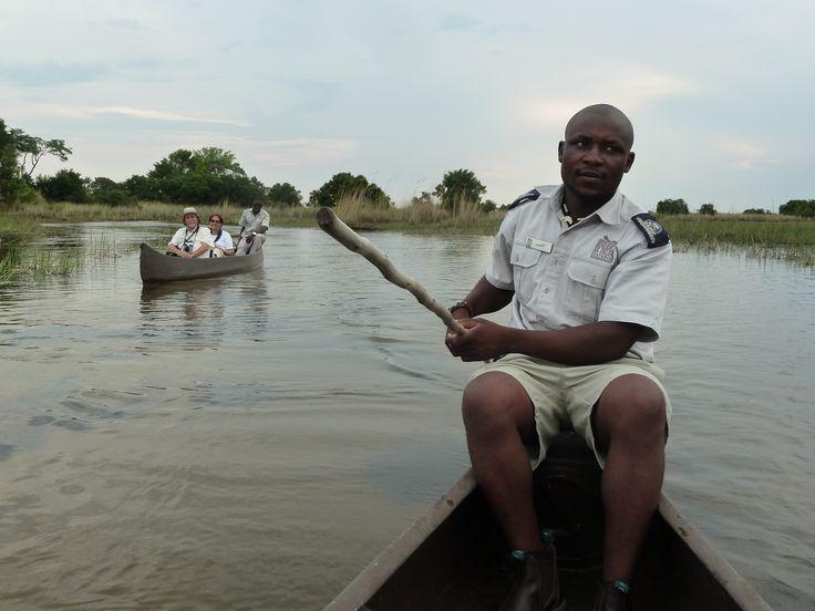 Meet our poler, for the mokoro Botswana101.com #MokoroRide101
