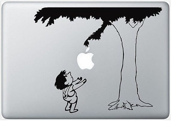 the giving tree: Vinyls Decals, Books, Macbook Stickers, The Giving Tree, Laptops, Macbook Decals, Trees Decals, Apples, The Give Trees