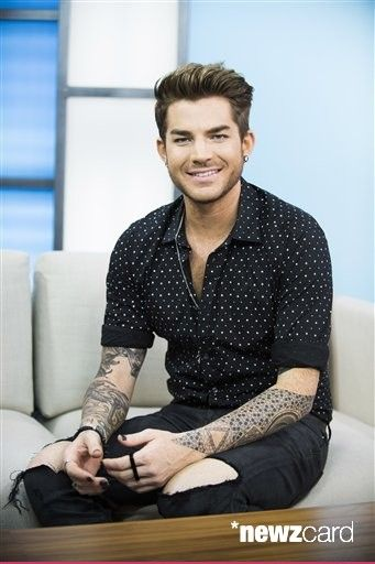 """Singer Adam Lambert seen on Global's """"The Morning Show"""" on Monday, June 22, 2015, in Toronto, Canada. (Photo by Arthur Mola/Invision/AP)"""