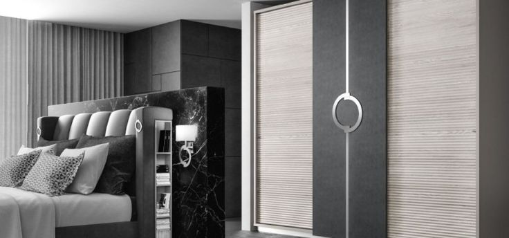 #Imcozyhere – 50 shades of grey in the Concept bedroom The sharp nature of black and white brings out shapes. #MadeInItaly #HandMade