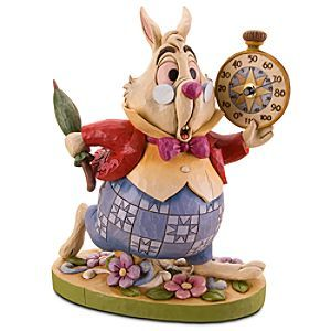 Disney Alice in Wonderland ''White Rabbit'' Garden Statue and Thermometer by Jim Shore | Includes a working thermometer, making it as functional as it is fun.