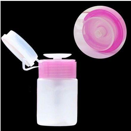 Neue 1 stücke Leere Pumpspender Nagellack Flüssigkeit Alkohol Remover Reiniger Flasche Nagelkunstwerkzeuge
