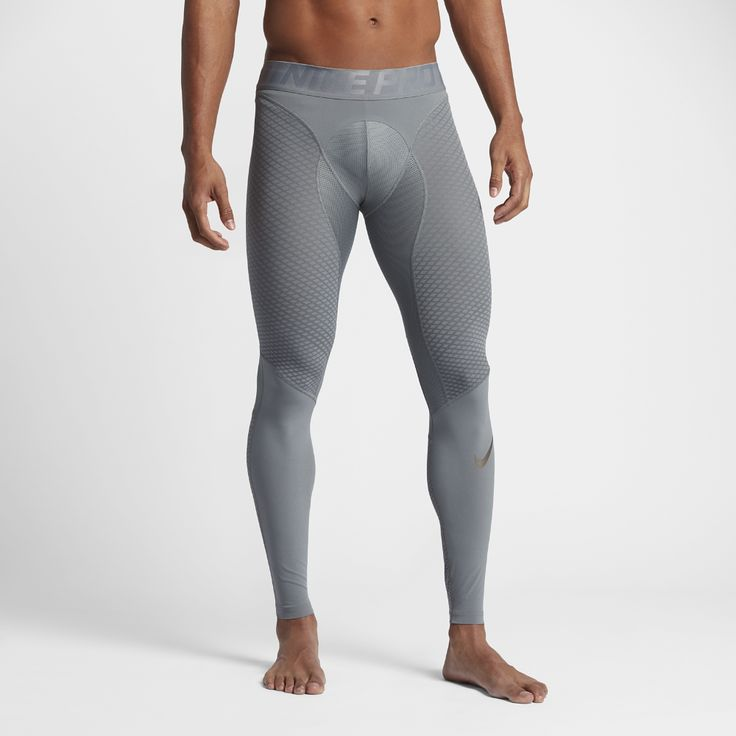 Nike Pro Zonal Strength Men's Training Tights Size Medium (Grey) - Clearance Sale