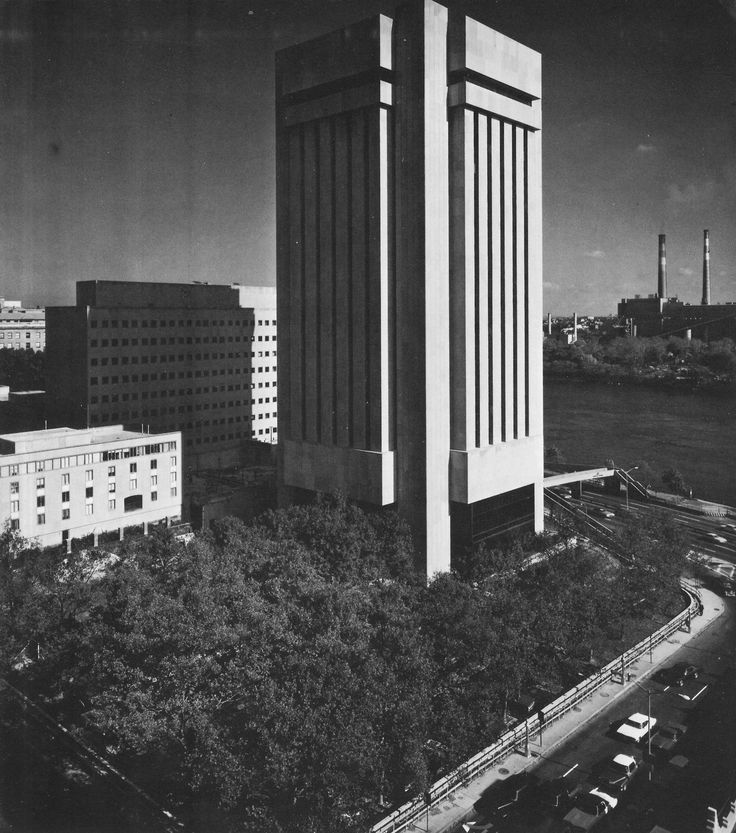 Tower Science Building, The Rockefeller University, Boston, 1970s (Campbell, Aldrich & Nulty)
