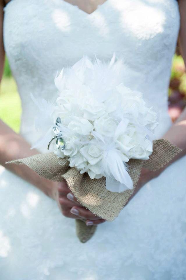 Marriage, jute, boeket, bride, flowers (dufrasnesfotografie)