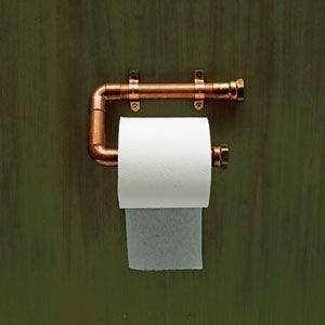 copper pipe toilet paper roll