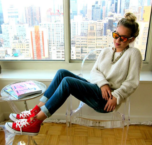 red high top converse outfits - Google Search