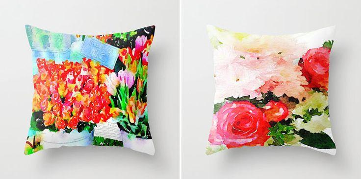 Весна на Sees All Colors: Красочные подушки The Artwerks