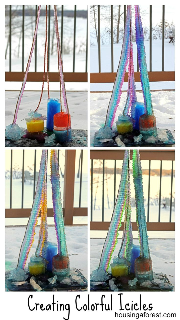 Creating Colorful Icicles ~ Housing A Forest