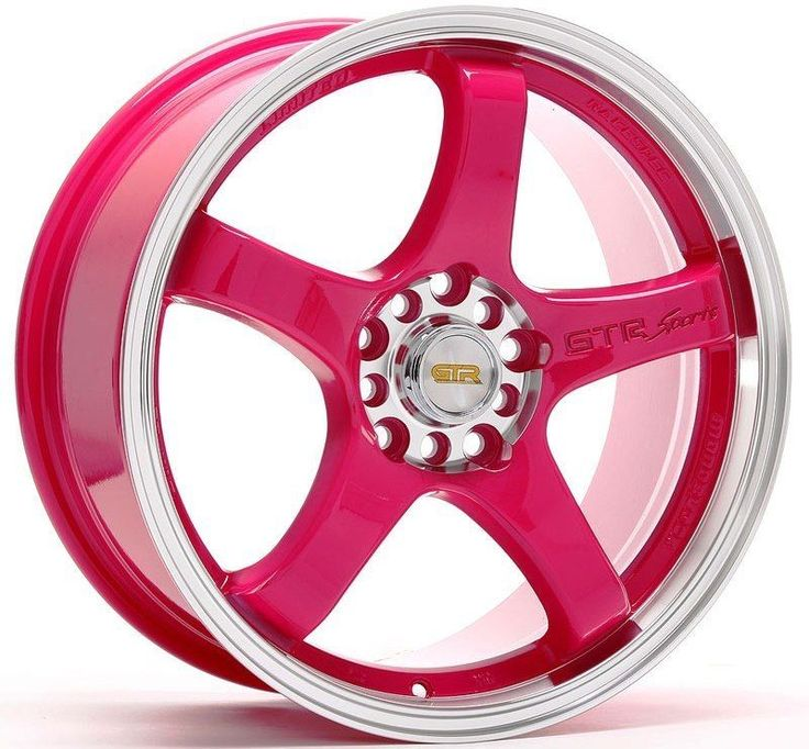 "17"" GTR 706 4X100 PINK WHEEL FIT MINI COOPER S JCW CLUBMAN CIVIC SI"