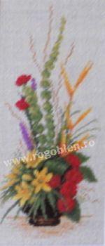 Cod produs 7.94 Ikebana cu flori exotice Culori: 19 Dimensiune: 8 x 18cm Pret: 31.25 lei