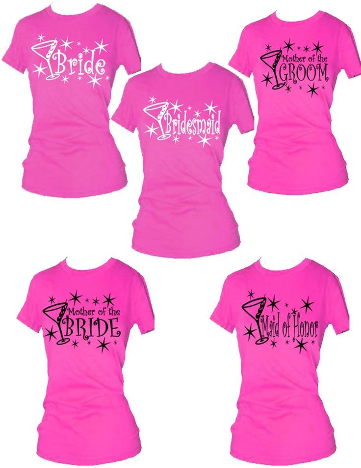Set Of 16 Bridal Party T Shirts Bachelor And Bachelorette