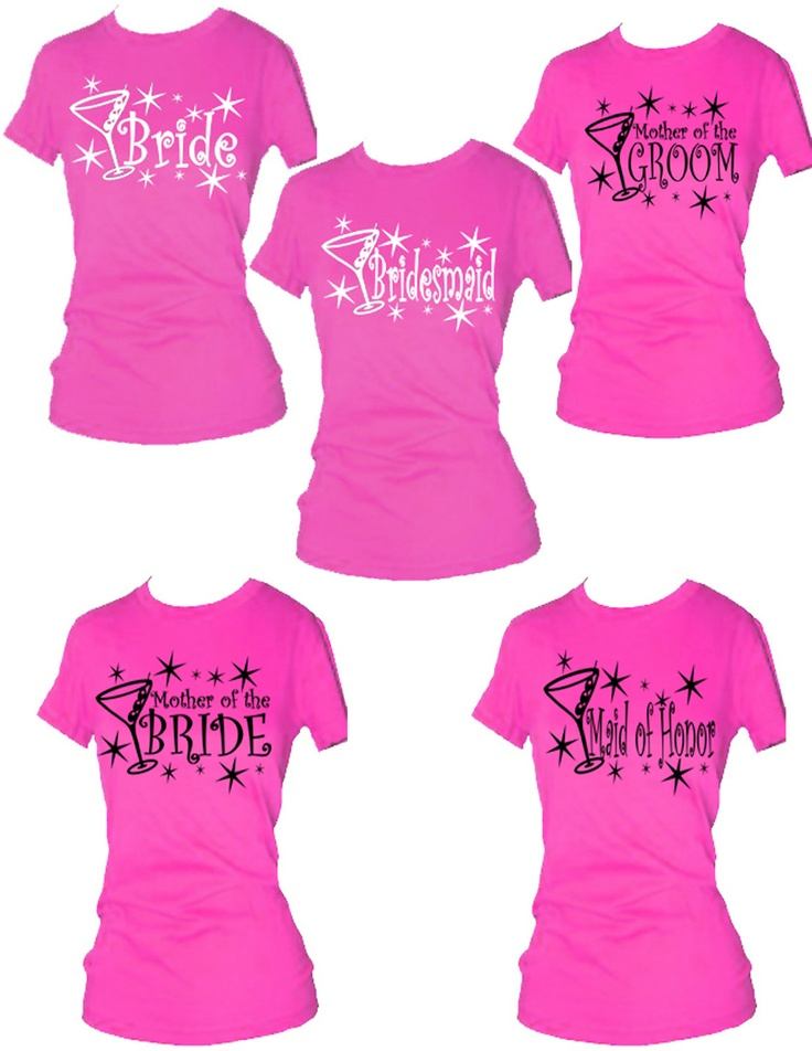 set of 16 bridal party t shirts bachelor and bachelorette