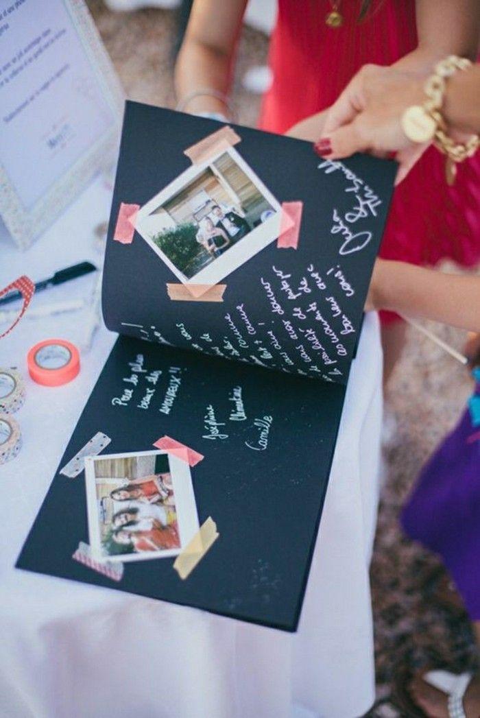 diy album avec photos mariage, idee animation mariage originale
