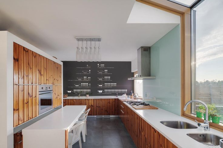 Breaking down kitchen measurements onto a wall is a fantastic use of the wall space.