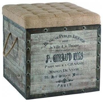 Storage Cube - industrial - ottomans and cubes - by Masins Furniture