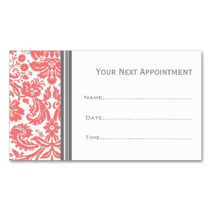 Best Appointment Business Card Templates Images On Pinterest - Appointment business card template