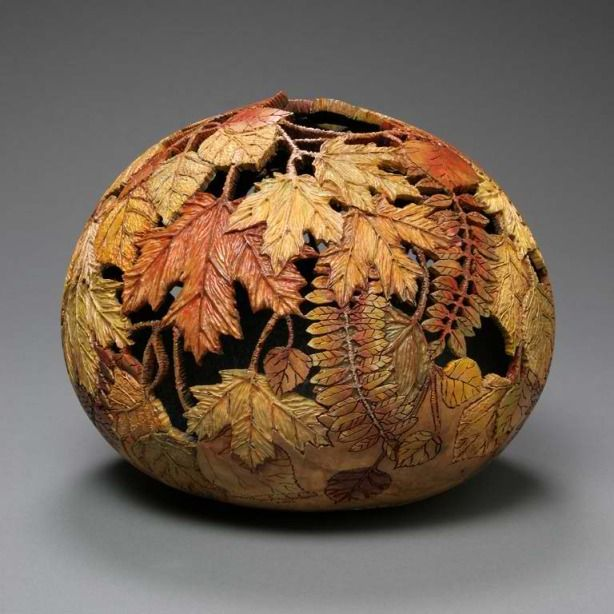 Superbly Awesome Gourd Carving Art by Marilyn Sunderland - Wave Avenue