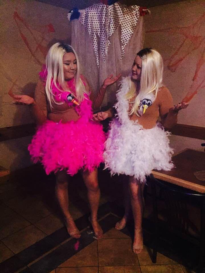 DIY White Chicks Halloween Costume. Pink and white ...