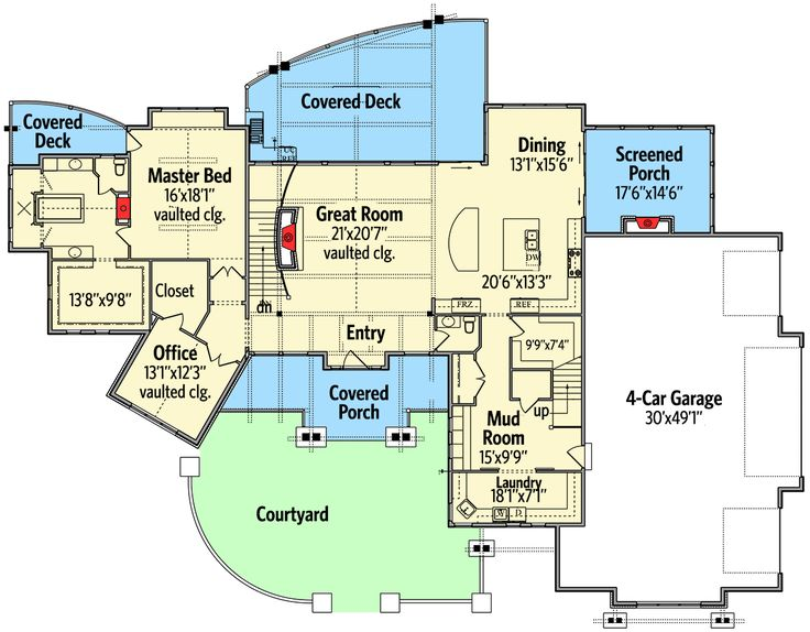 235 best images about house plans on pinterest house for House plans with guest suite