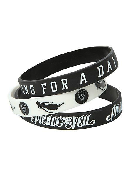 Pierce The Veil King For A Day Rubber Bracelet 3 Pack   Hot Topic