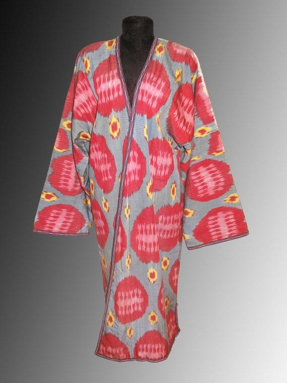 Uzbek national traditional clothes silk cotton by SunSilkFlowers, $190.00