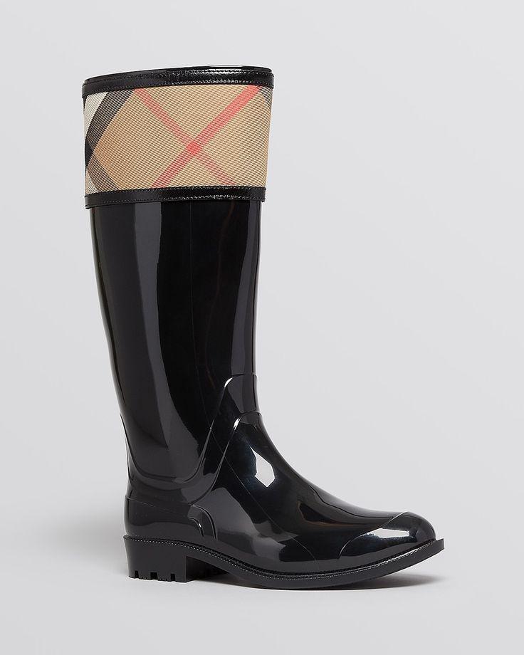 Burberry Rain Boots - Crosshill Housecheck | Bloomingdale's