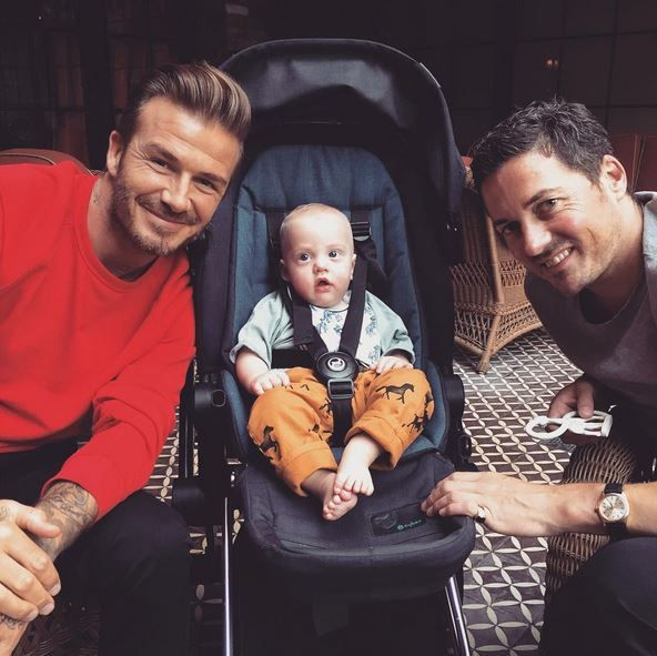 SPOTTED: DAVID BECKHAM, LIV TYLER, DAVID GARDNER AND BABY SAILOR › CYBEX Blog