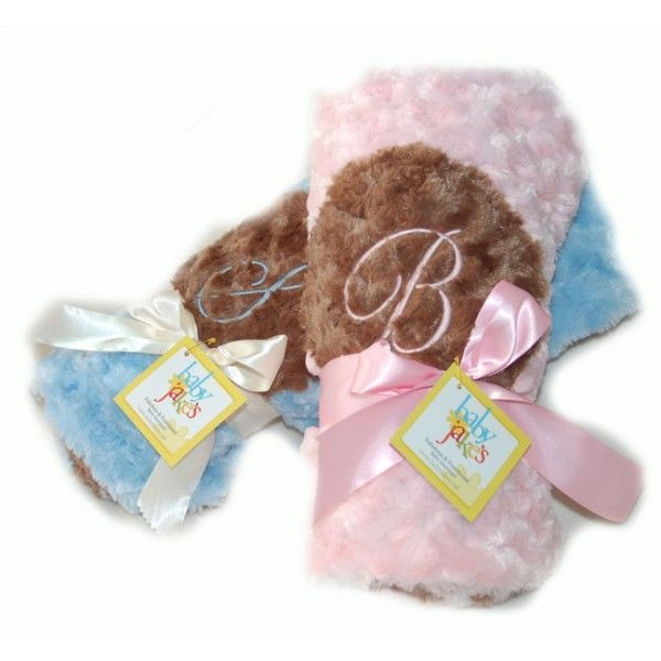 Personalized Poodle Shag Loveys & Blankets - Baby Shower Keepsake Idea