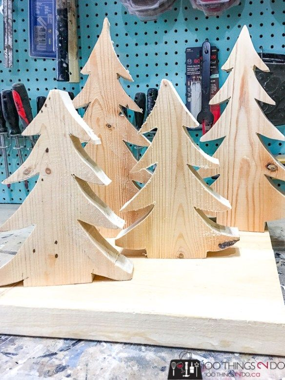 Wooden Christmas Trees 100 Things 2 Do Christmas Tree Crafts Wood Christmas Tree Wooden Christmas Trees