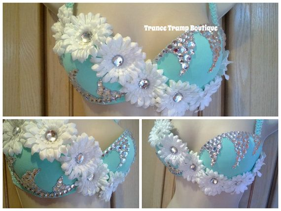 Hey, I found this really awesome Etsy listing at http://www.etsy.com/listing/156210392/blue-daisy-rhinestone-rave-bra