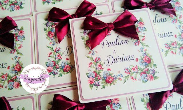 pasjonata.zaproszenia: # 83 Zamówienie pani Pauliny i pana Dariusza
