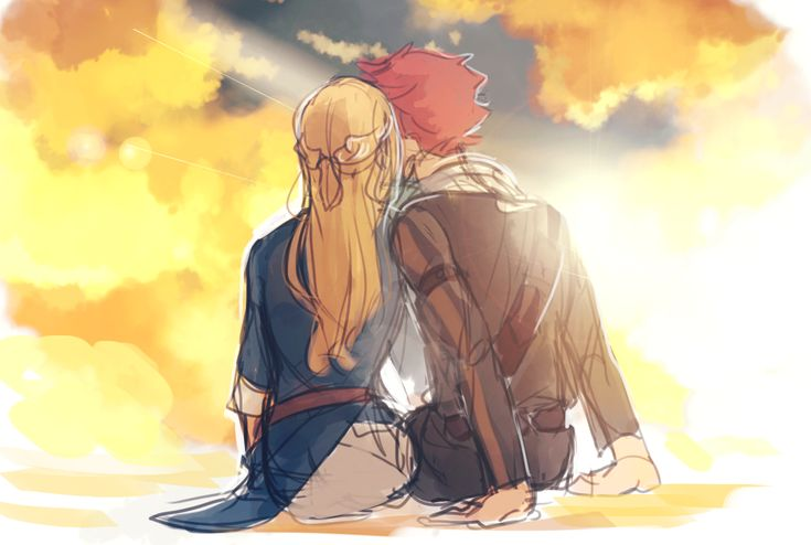 Nalu.... But did anyone else think of the scene ( SPOILERS ) from SAO after kirito beat heathcliff?
