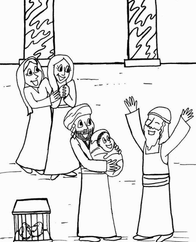 simeon and anna coloring pages - photo#10