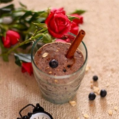 Blueberry Banana Oatmeal Smoothie | Food for Thought | Pinterest