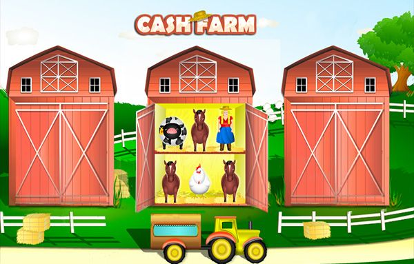 Mooove along to the country beat of music and the animal noises as you start to play Cash Farm online instant game on Mrmega.com. The very upbeat and happy tune will bring a smile on your face, but an even bigger smile will emerge as you see that you can win £100,000 on one single game. Cash Farm online instant game is a very fast game and very easy for anyone to play. Just click on a barn to reveal if you have a winning combination hidden in your three barns.