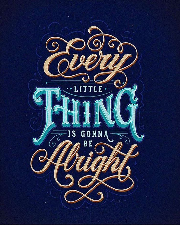 Every little thing is gonna be alright by @tobiassaul