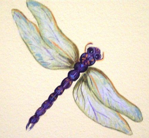 Dragonfly art I will use in decoupage.  No idea where I got it.