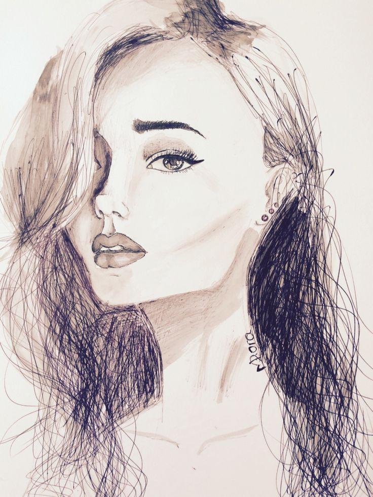 Pen woman by Dora Meidani 2016