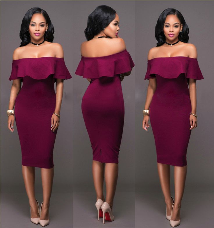 Gender: Women Dresses Length: Knee-Length Sleeve Style: Off the Shoulder Decoration: Hollow Out Season: Summer Material: Polyester,Spandex Pattern Type: Solid Silhouette: Sheath Neckline: Strapless St