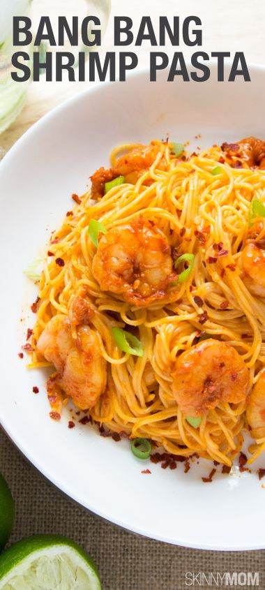 An amazing pasta with shrimp! Substitute whole wheat pasta for regular.