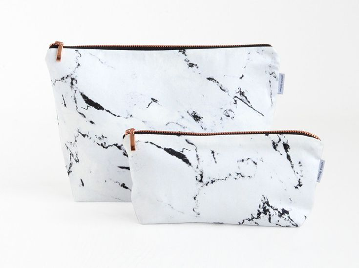 Toiletry Bags – marble toiletry bag wash bag white – a unique product by renna-deluxe on DaWanda