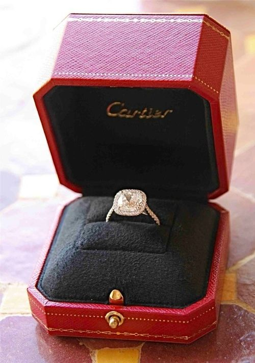 Cartier Engagement Ring. this is it. i'm in love with it LOVE it #Wedding #fashion #cartierrings square radiant cut cartier rings - fashion cartier rings PERFECT!!!