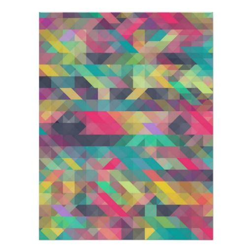 Cool colorful geometric triangles pattern