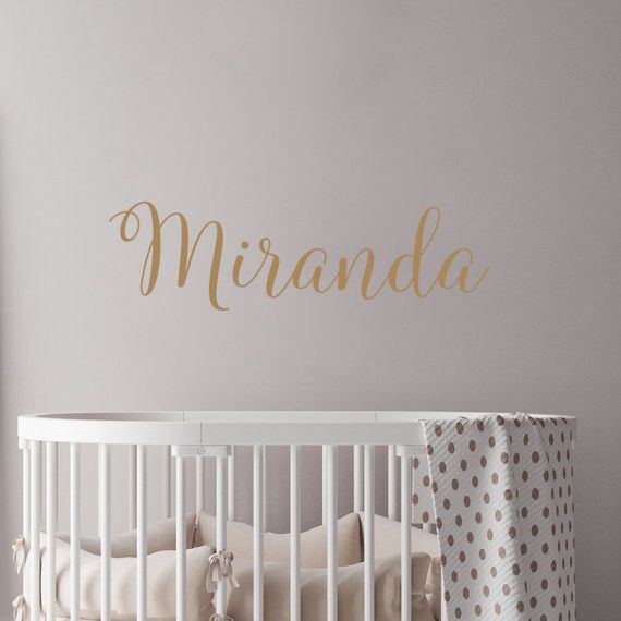Decal House Personalized Name For Girls Nursery Over Crib Stickers Rustic  Style Bedroom Wall Decal Color: Light Brown Part 74