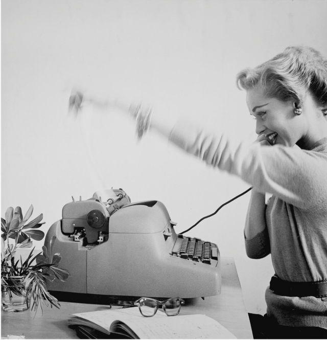 Tippi Hedren, test shot for IBM ad by Virginia Thoren, 1950s